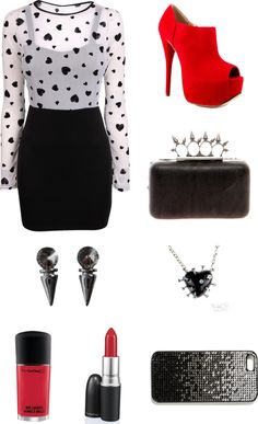 """""""Edgy Date Outfit"""" by madelenn-1 on Polyvore"""