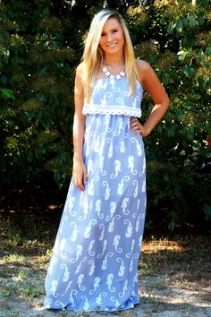 Off the Racks Boutique - The Coast of Somewhere Beautiful Maxi Dress: Navy, $48.99 (http://www.shopofftheracks.com/the-coast-of-somewhere-beautiful-maxi-dress-navy/)