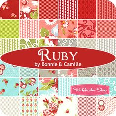 Ruby by Bonnie & Camille for Moda Fabrics; consider looking for Bliss quilts to use fabric