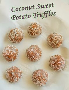 clean eating sweet potato truffles