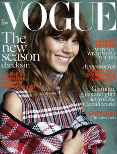 Freja Beha August 2013 British Vogue #Freja super-cute hair cut with #bangs