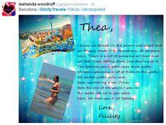 Lashanda Woodruff for the #OlicityTravels Project