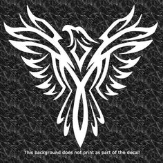 PHOENIX RISING FROM THE ASHES DECAL STICKER SOARING EAGLE TATTOO STYLE REBIRTH
