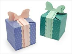 Cute Paper Gift Box With Free Printable Template and Pattern