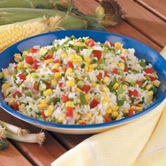 Corn Rice Recipe good side dish for summer