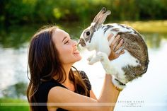 Image result for senior portraits with a rabbit