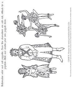 Nutcracker Ballet Silhouettes including sugar plum fairies