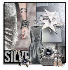 """Silver"" by anna-survillo ❤ liked on Polyvore featuring Iris & Ink, Bottega Veneta, Gianvito Rossi and David Yurman"