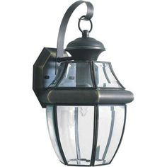 Forte Lighting One Light Outdoor Wall Lantern with Clear Shade