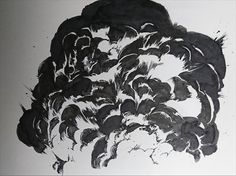 Smoke Drawing, Manga Drawing, Manga Art, Creepy Drawings, Pencil Art Drawings, Art Sketches, Animation Reference, Art Reference Poses, Explosion Drawing