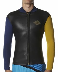 SURFSTITCH - SURF - WETSUITS - MENS VESTS - THE CRITICAL SLIDE SOCIETY JUMBLED WETSUIT JACKET - OMBRE