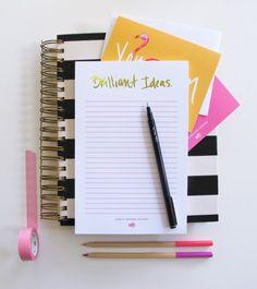 Brilliant Ideas Gold Foiled Notepad Via Ashley Brooke designs
