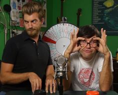 Rhett and Link. They're on this board because they act like this and I love them :)