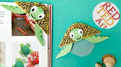 Easy and cute Turtle Bookmark. These are so cute and fun and easy to make. Hope you have fun with this paper craft diy and do check out all the other corner ...