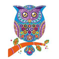 Glitter owl