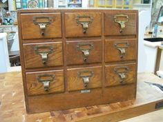 Vintage Index Card Filing Cabinet