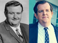 Dominic Burgess and Victor Buono from Feud: Bette and Joan Transformations: See How Much the Cast Looks like the Real-Life Figures