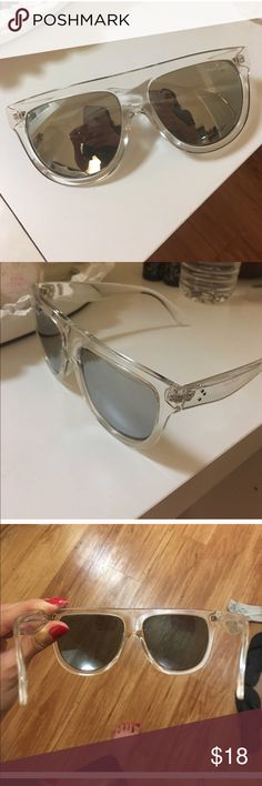 Clear oversized sunglasses Clear over sized sunglasses good condition Accessories Sunglasses