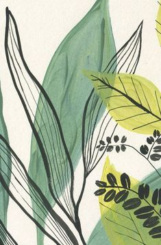 Quadro decorativo Folhagem tons de verde com moldura de madeira Art Mural Vert, Green Wall Art, Green Art, Poster Prints, Art Prints, Framed Prints, Plant Art, Minimalist Art, Painting Inspiration