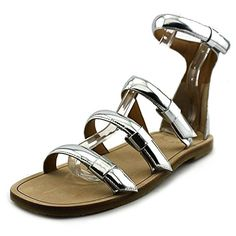 Marc  by  Marc  Jacobs  seditionary  flat  women silver  sandals