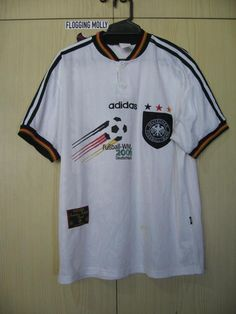 b8e472cadee Originals Vintage Germany Euro 1996 Home Kit Football Jersey Soccer Shirt  Adidas Authentic 90s Size M