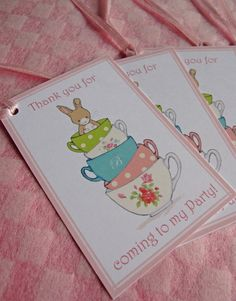 "Hand illustrated Bunny Tea Party Invitations by Bumpkin Hill, visit www.bumpkinhill.com for your event stationery and styling needs. ""Friends for Tea"" - Bespoke Vintage Style Illustration - Bunny Girls Party Collection, Bunny Baby Shower."