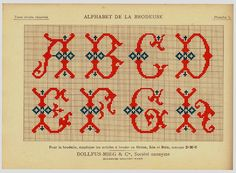 Alphabet de la Brodeuse1932- Thérèse de Dillmont