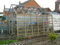 Making a Fruit Cage from recycled materials