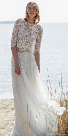 Antique Bodice Work Inspiring Sensuous Bridal Wear with Flowy Skirt