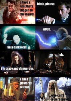 Harry Potter vs Doctor Who, Star Wars, Serenity and The Lord of the Rings - An Introspective World