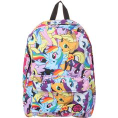 My Little Pony Mane Six Backpack | Hot Topic ($45) ❤ liked on Polyvore featuring bags, backpacks, backpack, my little pony bag, knapsack bags, my little pony backpack, colorful bags and colorful backpacks