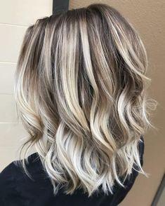 Baliage Hair, Balayage Hair Blonde Medium, Short Balayage, Icy Blonde, Ash Blonde Hair, Hair Color Balayage, Hair Highlights, Ombre Hair, Bright Blonde