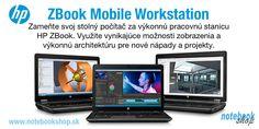 HP ZBook Mobile Workstation - Profesionálne výkonné notebooky HP Zbook v 14,15 a 17 palcovom prevedení s vynikajúcimi displejmi, profesionálnymi grafikami a nekompromisným výkonom.