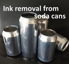 """Remove Ink from Soda Pop Cans to Make Shiny Aluminum Base Homesteading  - The Homestead Survival .Com     """"Please Share This Pin"""""""