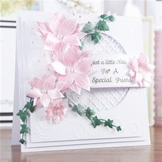 Honey Doo Crafts Relatively Little Words Collection - Relatively Little Words 1 and Flowers for Design - 33 Elements Card Making Inspiration, Making Ideas, Honey Doo Crafts, Cards For Friends, Friend Cards, Shabby Chic Cards, Spellbinders Cards, Birthday Cards For Women, Embossed Cards