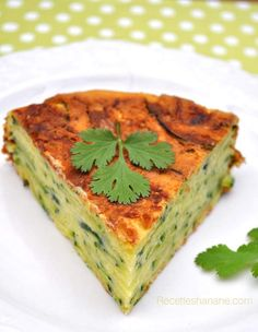 HEALTYFOOD  Diet to lose weight  Gâteau invisible aux courgettes & safran (Recettes Hanane)