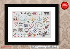 """Cross stitch """"All things""""."""