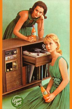 lovely vintage ladies 'wearin the green'--probably 1960s