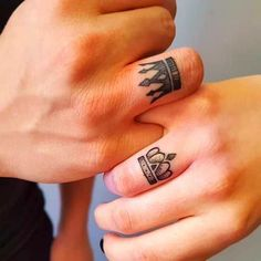 Nov 2019 - 109 Hopelessly Romantic Couple Tattoos That Are Better Than A Ring Finger Tattoos For Couples, Wrist Tattoos For Women, Couple Tattoos, Tattoos For Guys, Tattoo Finger, Ring Tattoo Designs, Best Tattoo Designs, Unique Tattoos, Beautiful Tattoos