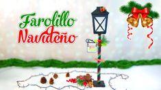 Manualidades para Navidad: farolillo hecho con caja de cereales