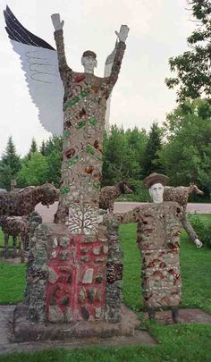 Fred Smith's Wisconsin Concrete Park. 237 embellished concrete sculptures & other objects built by retired lumberjack Fred Smith.