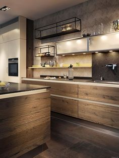 How to Design Home Kitchens Best Simple Kitchen Design ideas for Middle Class Family with Photo Gallery Ideas – simplify life in the kitchen – interior kitchen design – simply and elegant…. Simple Kitchen Design, Industrial Kitchen Design, Interior Design Kitchen, Kitchen Designs, Industrial Kitchens, Kitchen Modern, Minimalist Kitchen, Minimalist Interior, Vintage Industrial