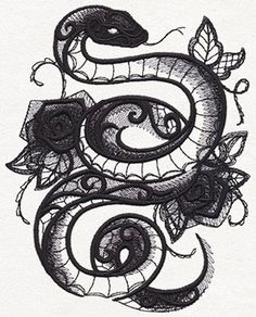 Dark Creatures - Snake | Urban Threads: Unique and Awesome Embroidery Designs