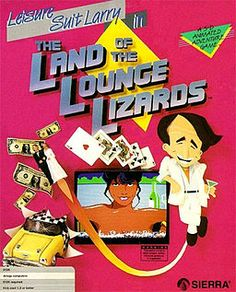 "COVER ART, son... ""Leisure Suit Larry in the Land of the Lounge Lizards"" by Al Lowe, Sierra On-Line (1987)"