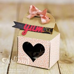 Valentine's mini cards and treat holder using Love Blossoms stamp set and Baker's Box die from Stampin' Up!, by Marisa Gunn