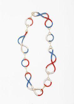 Tricolor Twirls: Gold, copper, enamel. 2007 / Beate Klockmann