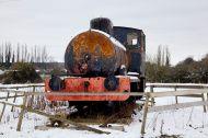 Old Scrap Tank Engin Locomotive