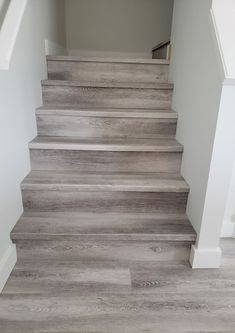 Tired of ugly and uncomfortable metal stair nosings for your vinyl plank?  We build custom stair nosings for all types of LVP even if its not our product.  The Nosing Shop, located with in Michaels Flooring