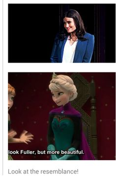 Ohh, this is darling! Elsa and her voice, Idina Menzel