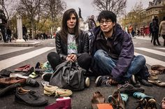 Shoes are walking for us ,photo prise au Leica M9 www.camillegabarra.com, #cityportrait #ClimatChange #COP21 #since1974 #camillegabarraphotographer